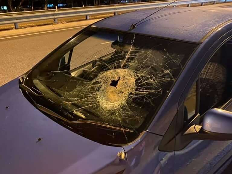 'Through his windscreen like a bullet hole': Terrifying rock attack on motorists near Bayview Sunday night